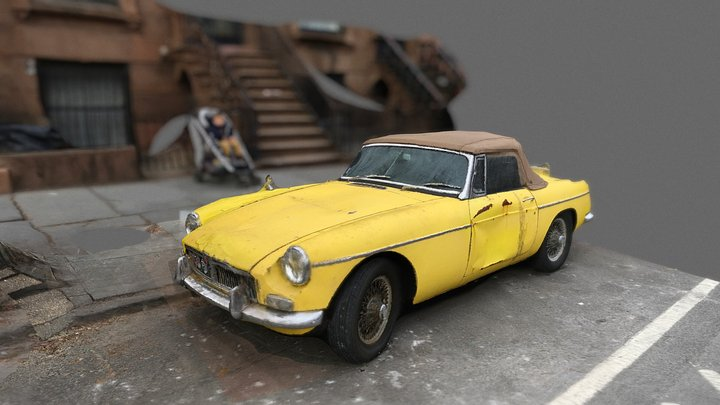 MG MGB sports car 3D Model