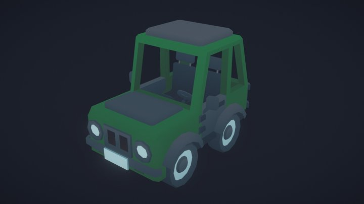Stylized car 3D Model