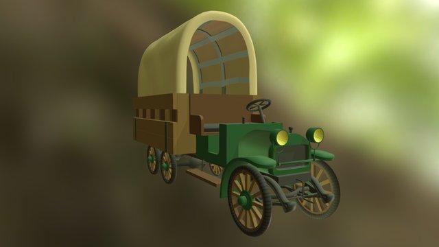 Chariot Garford sur Blender 3D Model