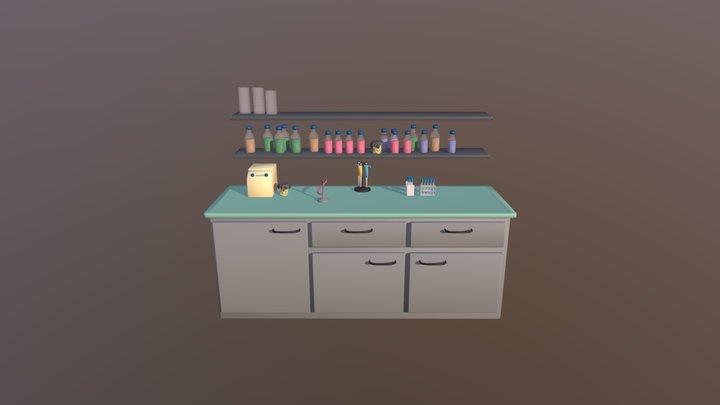 lab bench 3D Model
