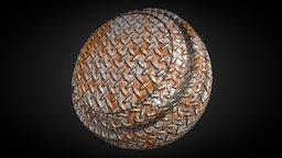 Rusty Metal Material 3D Model