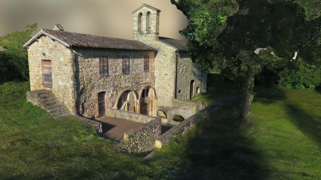 Fonte San Venanzio Church -  Camerino, Italy 3D Model