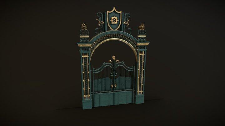 #ProceduralGateChallenge - Palace gate 3D Model