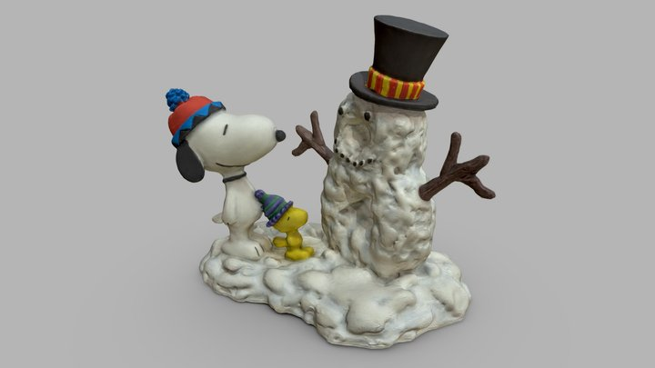 Peanuts: Snoopy Woodstock Christmas figurine 3D Model