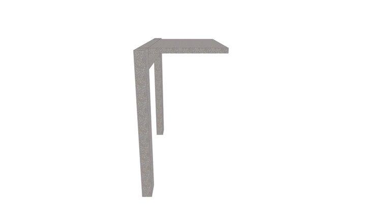Marquise de concreto armado engastada em viga 3D Model