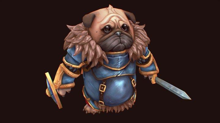 Pug Knight 3D Model