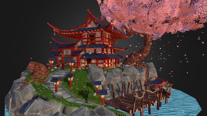 Stylized Japanese Scene 3D Model