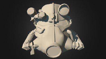Fallout: ServoHelmet T-45d (Texture WIP) 3D Model