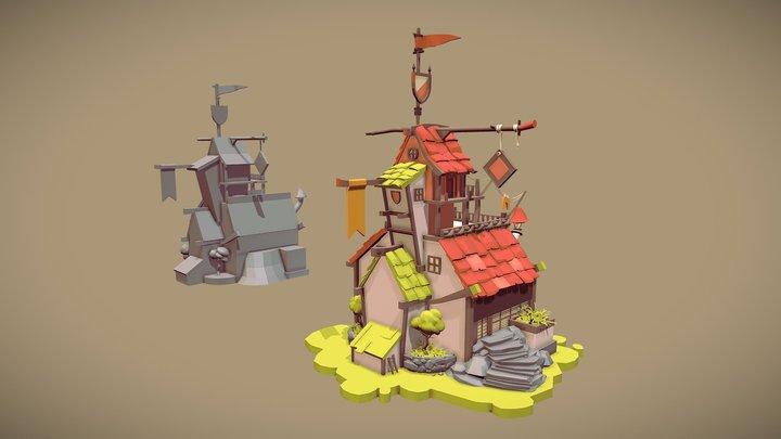 House Draft 3D Model