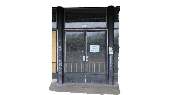 Dveře odbavovací haly - vítkovické nádraží 3D Model