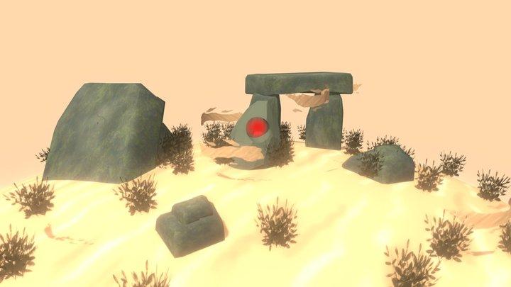 Desert Stone 3D Model