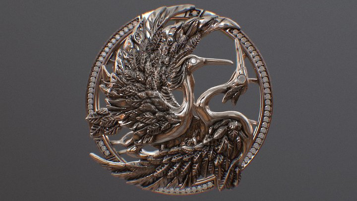 pendant birds 3D Model