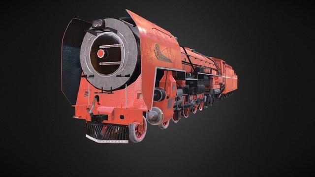 Train Red Devil Animation 3D Model