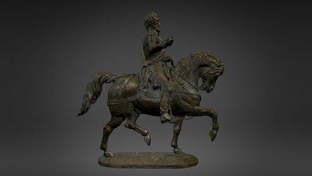 Henri IV à cheval 3D Model