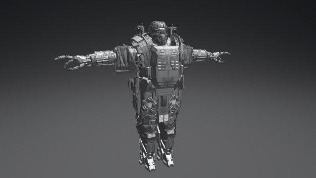 Robot Soldier Heavy Unit - CYBO 3D Model