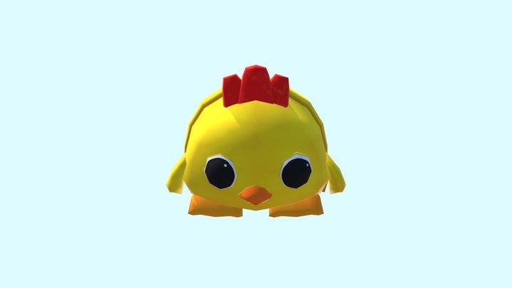 Backpack Chicken 3D Model