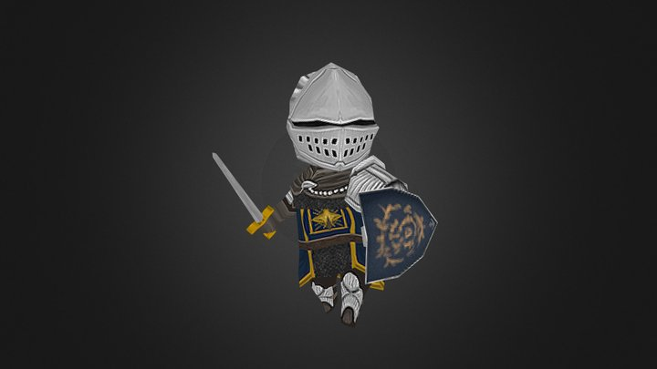 The Chosen Undead Elite knight Armor 3D Model