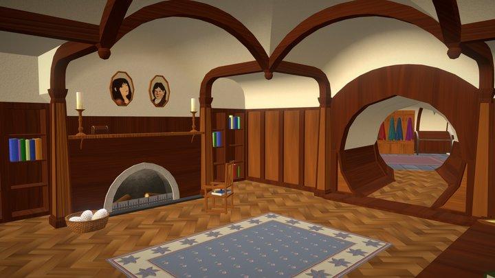 Bag End Environment (The Hobbit) 3D Model