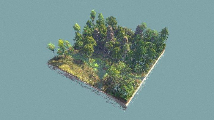Minecraft AngkorWat PointCloud Test 3D Model
