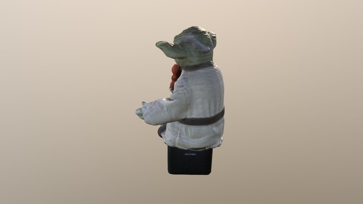 Yoda and Charmander 3D Model