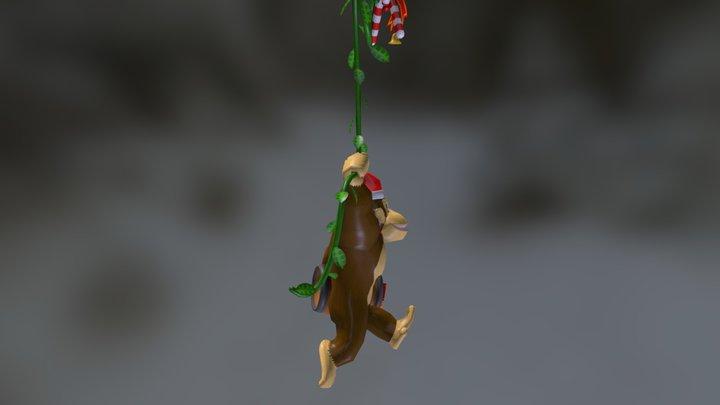 Donkey Kong (Christmas Ornament) WIP 3D Model