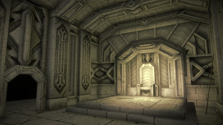 Moria Game Level 3D Model