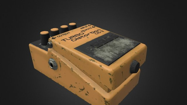 DistortionPedal 3D Model