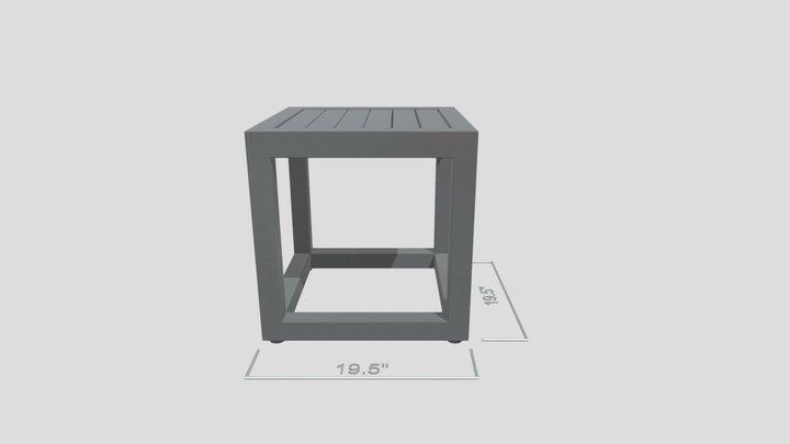 Aqua End Table 3D Model
