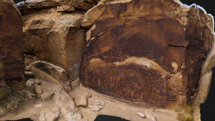 Rochester Rock Art Panel, Utah 3D Model
