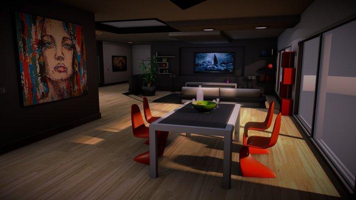 Appart 3D for VR 3D Model