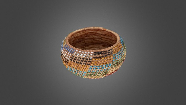 Small Basket With Beads 2006 001 001 3D Model