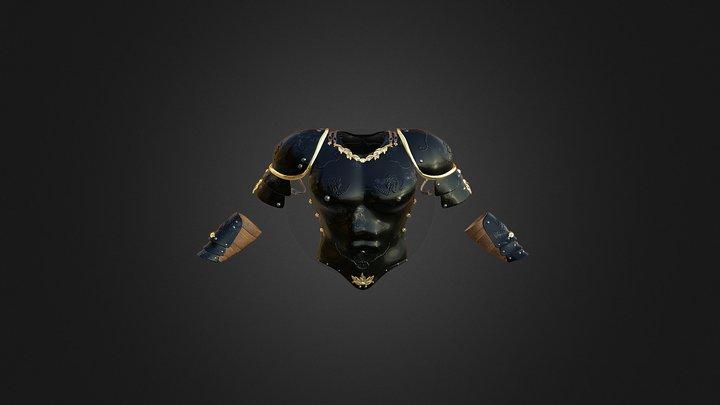 Fantasy Cuirass and Paldrons V3 3D Model