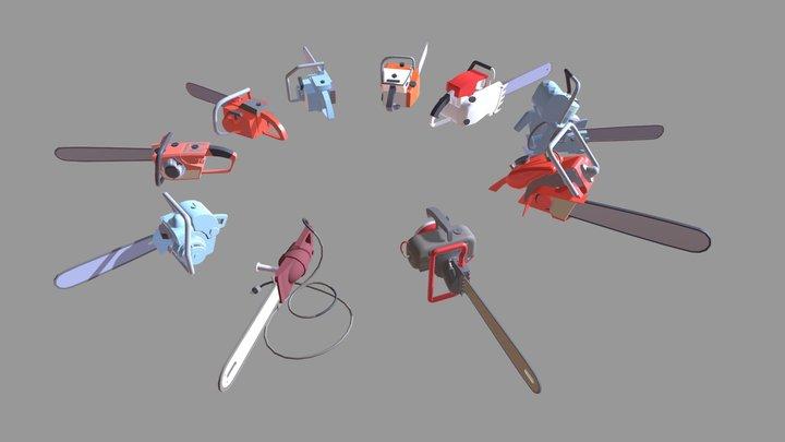 chainsaw draft 3D Model