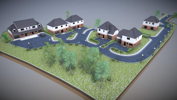 Newbury Houses Development 3D Model