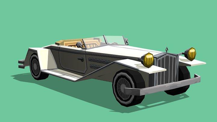 Classic Car LowPoly 3D Model