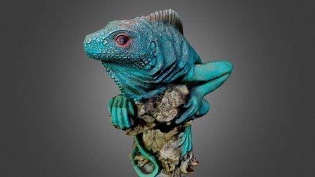 Green Iguan, re-created (not mine) 3D Model
