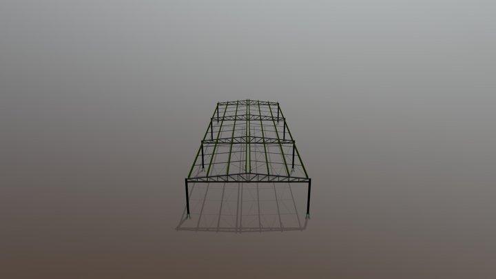 Galpão Metálic0 10x30m 3D Model