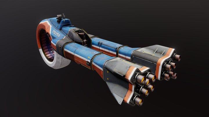Aeriusu Drone Ship 3D Model