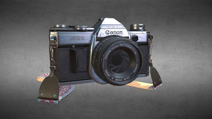 Vintage Canon Camera - Game Rez 3D Model