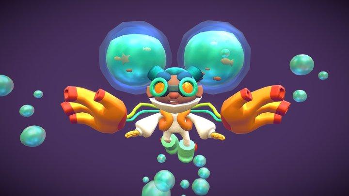 Octagal! 3D Model
