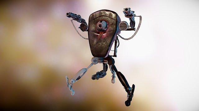 Old junk robot v 0.1 3D Model