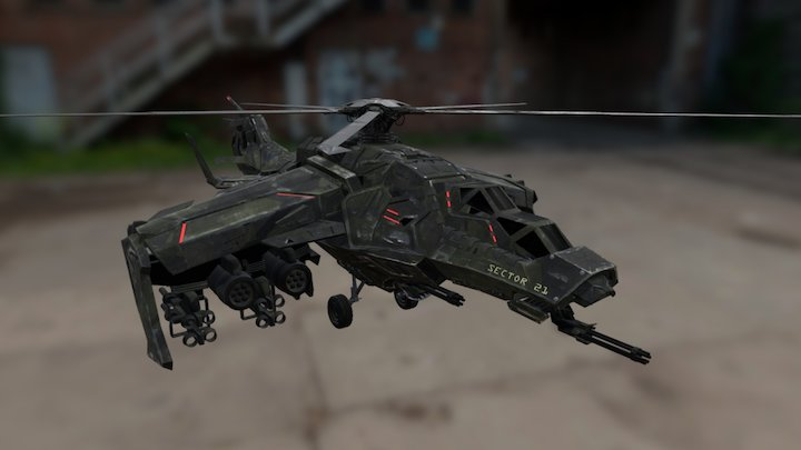 Sector 21 Helicopter (Drafted 2035) 3D Model