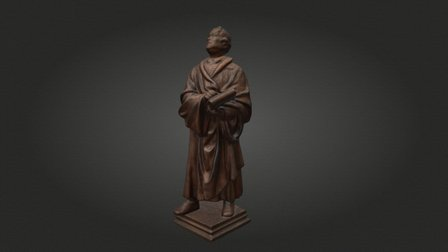 Luther-Statuette / Luther Statuette 3D Model