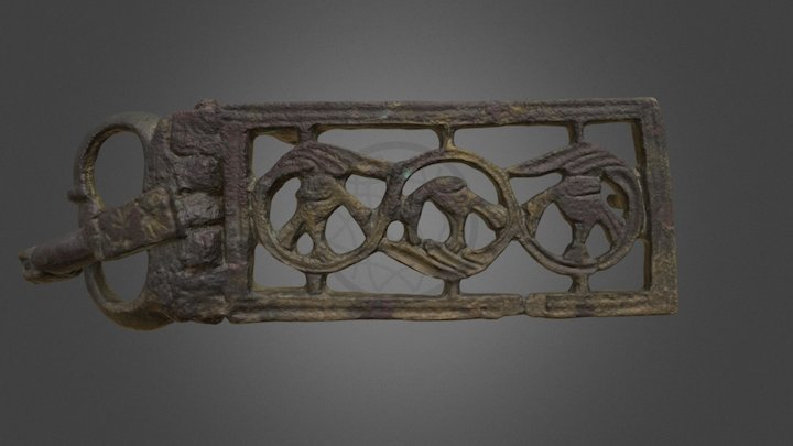 Belt buckle/ Broche de cinturón. Cerro Salido 3D Model