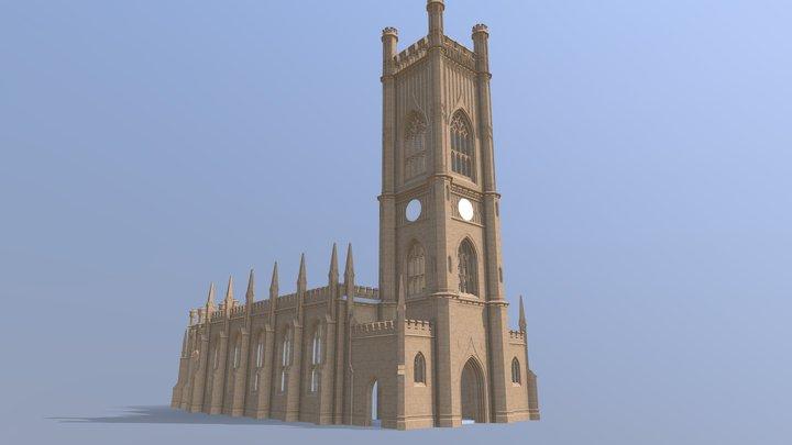 St Luke's Liverpool (reconstructed) 3D Model
