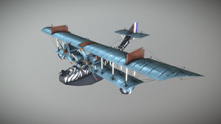 Felixstowe F.2a Stylized Plane 3D Model
