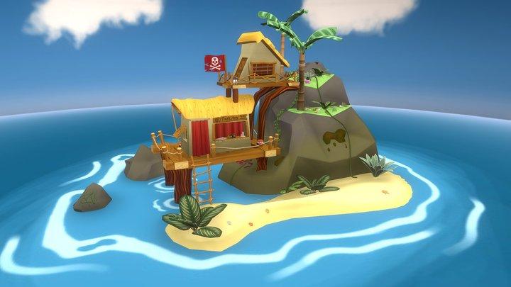 Black Magic Island 3D Model