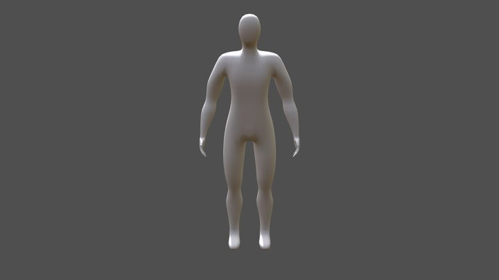 Soldier w/o clothes 3D Model