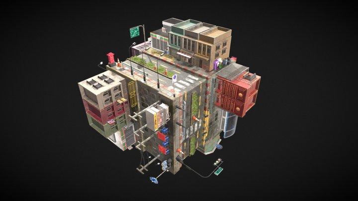 Thai Building Box 3D Model