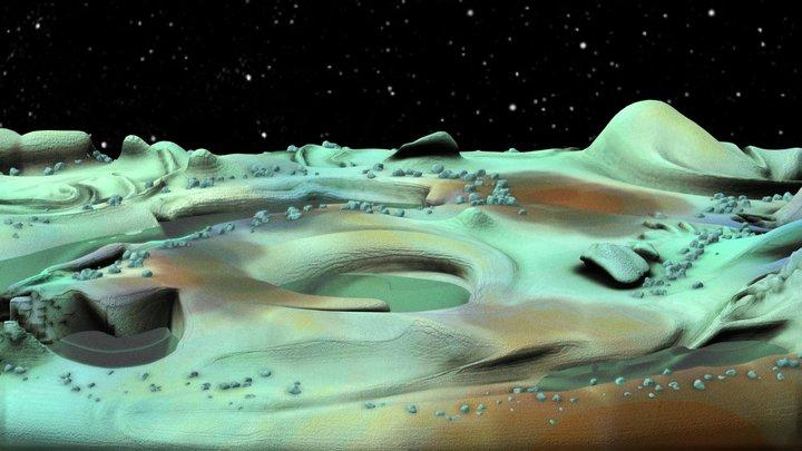 Europa Melting 3D Model